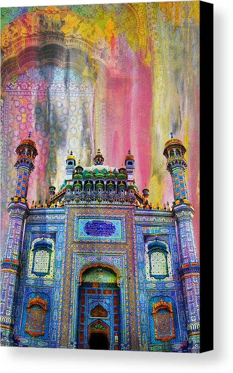 Pakistan Canvas Print featuring the painting Sachal Sarmast Tomb by Catf