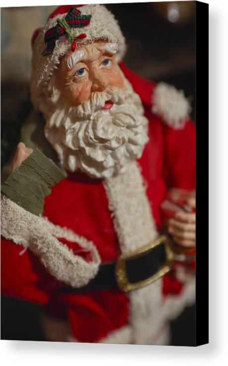 Santa Claus Canvas Print featuring the photograph Santa Claus - Antique Ornament - 02 by Jill Reger