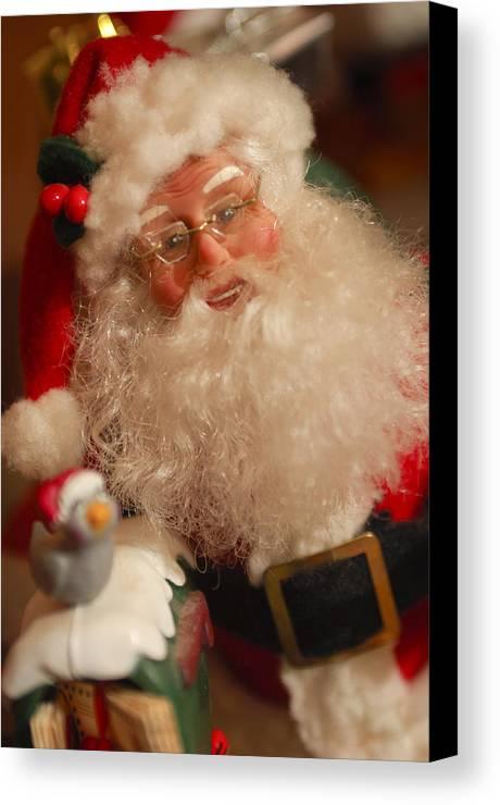 Santa Claus Canvas Print featuring the photograph Santa Claus - Antique Ornament - 11 by Jill Reger