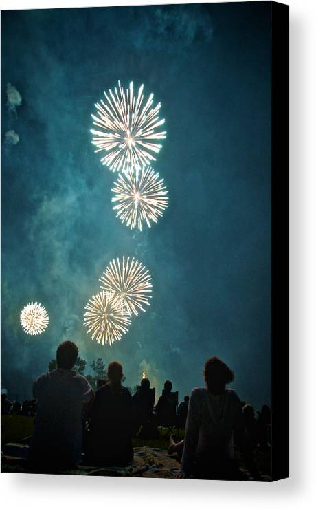July Canvas Print featuring the photograph The 4th by Josh Eral