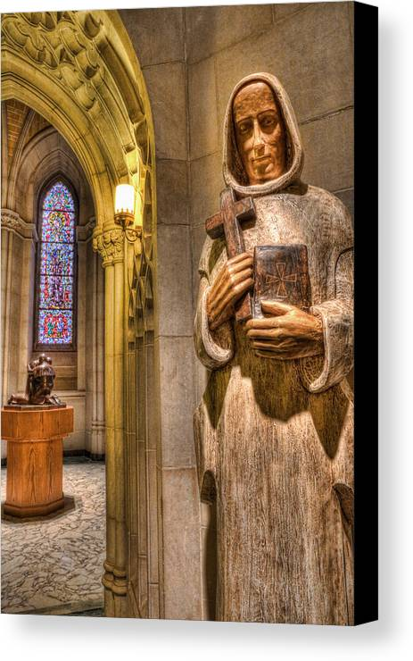 Benedictine Monk Canvas Print featuring the photograph The Benedictine Order by Lee Dos Santos