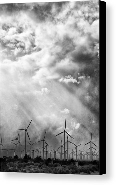 Windmills Canvas Print featuring the photograph The Mighty Wind Palm Springs by William Dey