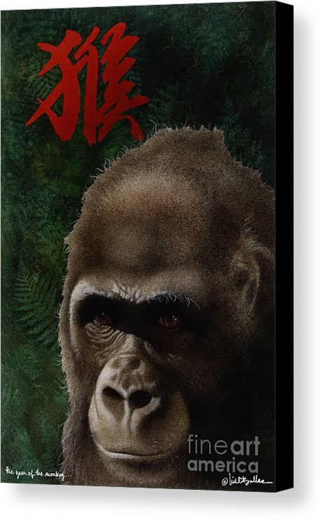 Will Bullas Canvas Print featuring the painting The Year Of The Monkey... by Will Bullas