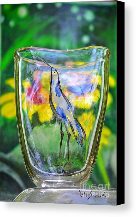 Nature Canvas Print featuring the glass art Vinsanchi Glass Art-2 by Vin Kitayama