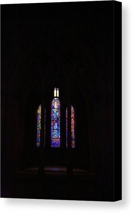 Alter Canvas Print featuring the photograph Washington National Cathedral - Washington Dc - 011334 by DC Photographer