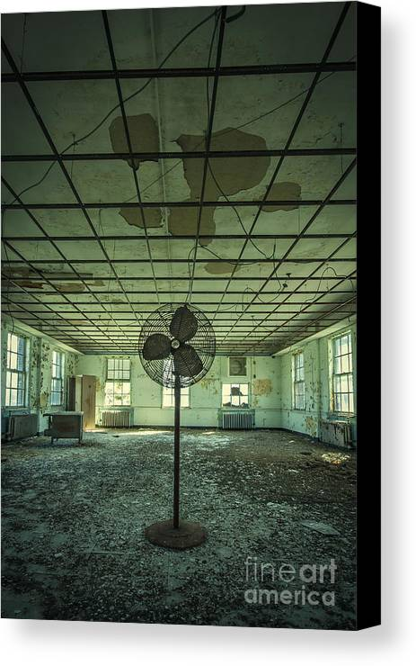 Asylum Canvas Print featuring the photograph Welcome To The Asylum by Evelina Kremsdorf