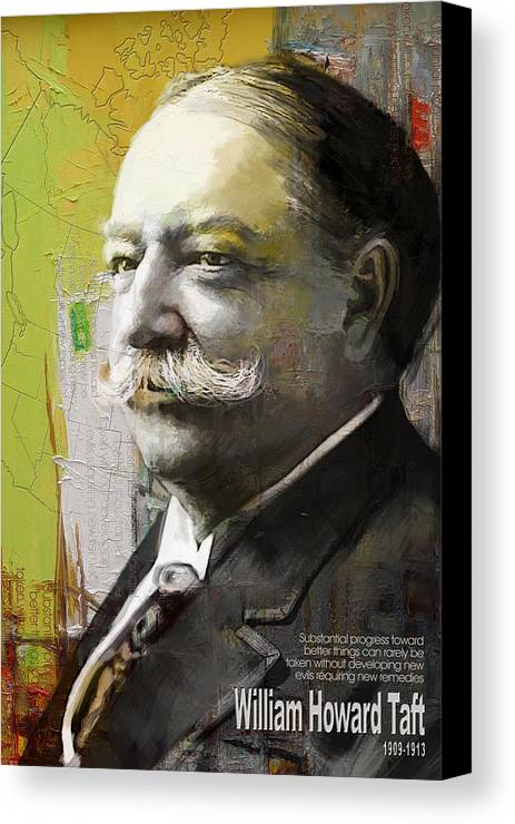 William Howard Toft Canvas Print featuring the painting William Howard Taft by Corporate Art Task Force