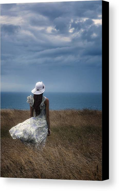 Girl Canvas Print featuring the photograph Windy Day by Joana Kruse