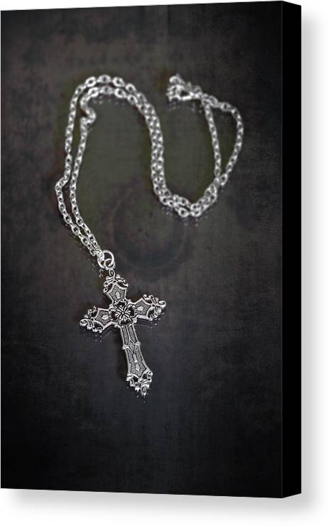 Necklace Canvas Print featuring the photograph Celtic Cross by Joana Kruse