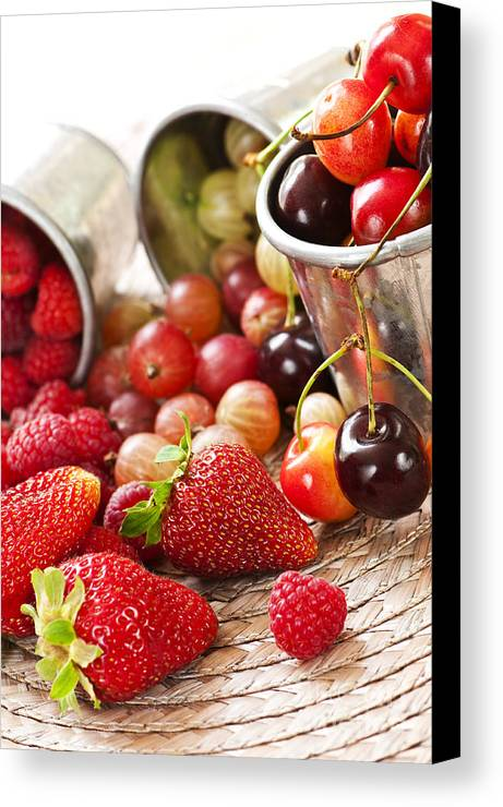 Fruits Canvas Print featuring the photograph Fruits And Berries by Elena Elisseeva