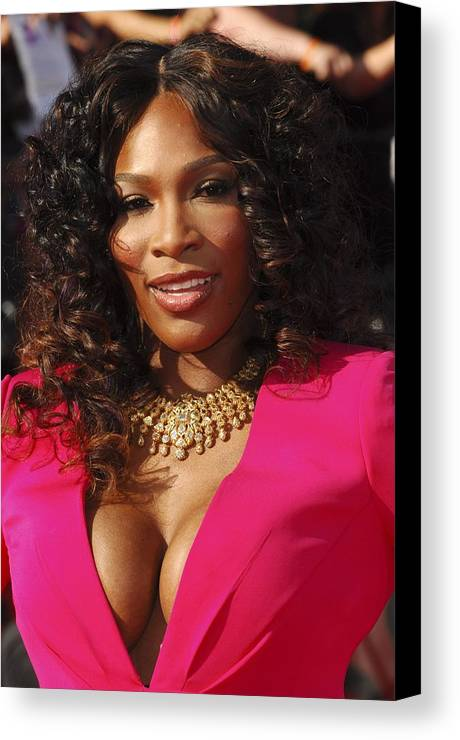 Serena Williams Canvas Print featuring the photograph Serena Williams At Arrivals For The by Everett