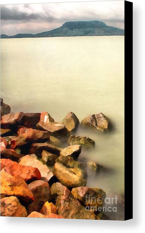 Odon Canvas Print featuring the painting Calm by Odon Czintos