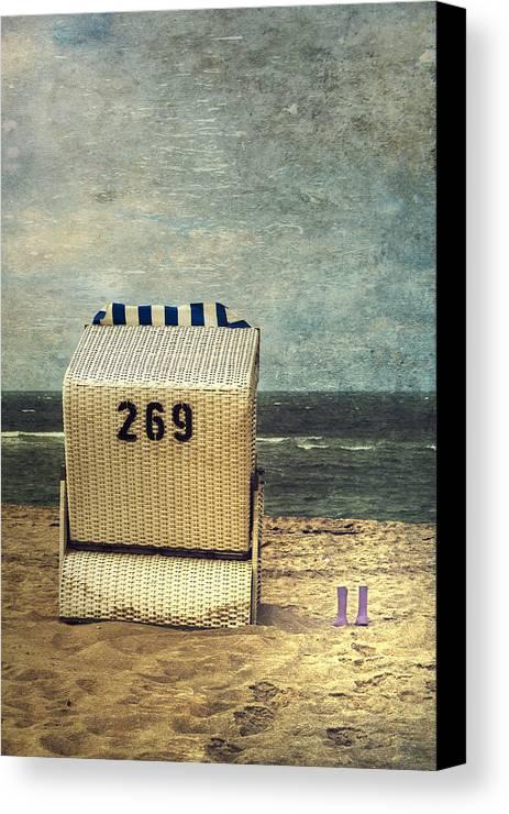 Beach Chair Canvas Print featuring the photograph Beach Chair by Joana Kruse