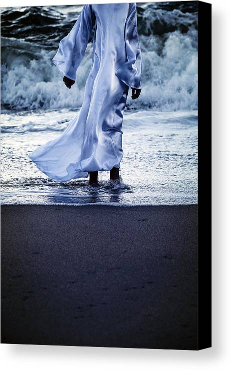 Girl Canvas Print featuring the photograph Girl At The Sea by Joana Kruse