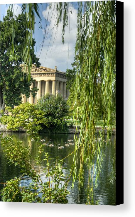 Parthenon Canvas Print featuring the photograph A View Of The Parthenon 16 by Douglas Barnett