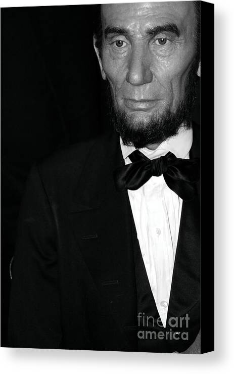 Abraham Lincoln Canvas Print featuring the photograph Abraham Lincoln by Sophie Vigneault