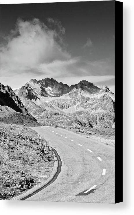 Vertical Canvas Print featuring the photograph Albula Pass Road by daitoZen