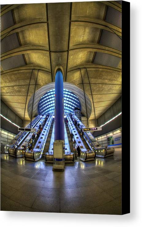 London Canvas Print featuring the photograph Alien Landing by Evelina Kremsdorf