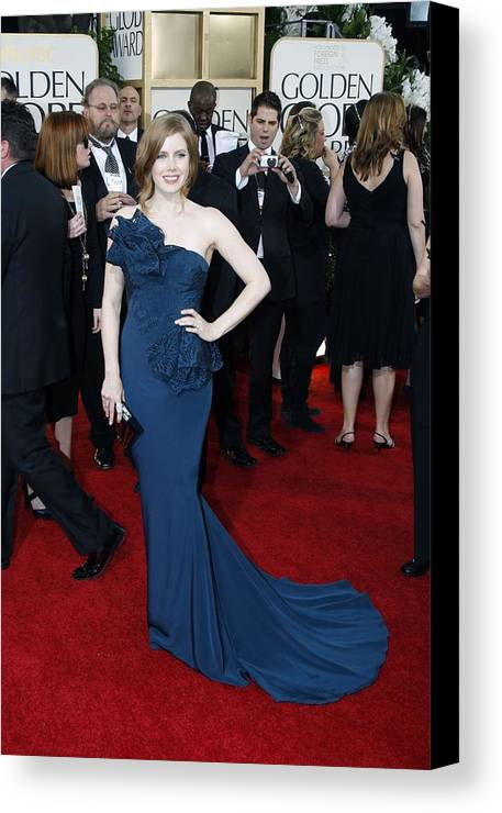 Amy Adams Canvas Print featuring the photograph Amy Adams Wearing A Marchesa Gown by Everett