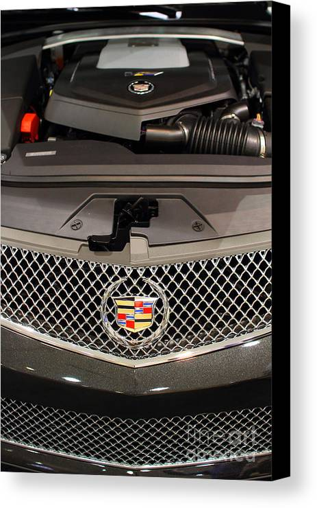 Transportation Canvas Print featuring the photograph Cadillac . 7d9554 by Wingsdomain Art and Photography