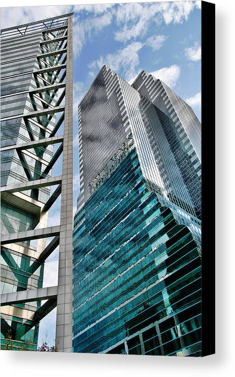 Downtown Canvas Print featuring the photograph Chicago - A Sophisticated Finance Hub by Christine Till