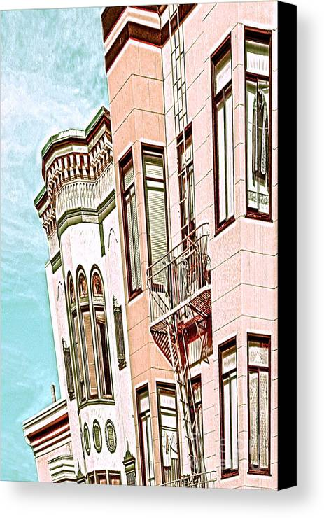 San Francisco Canvas Print featuring the digital art Coat In The Window by Artist and Photographer Laura Wrede