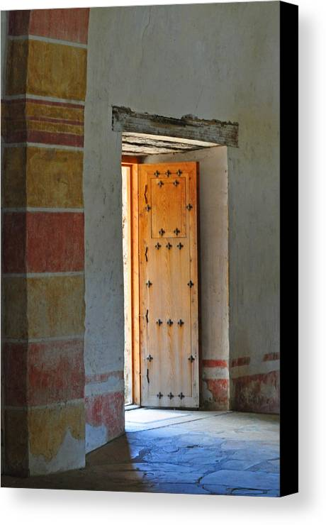 Door Canvas Print featuring the photograph Enter Life by Peter McIntosh