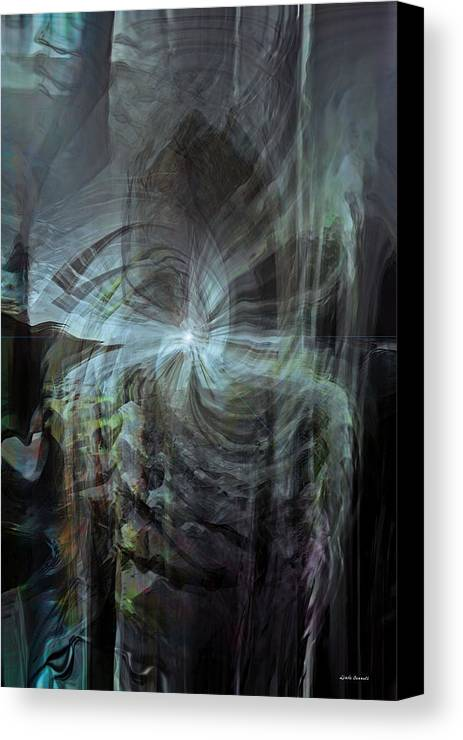 Abstract Canvas Print featuring the digital art Fear Of The Unknown by Linda Sannuti