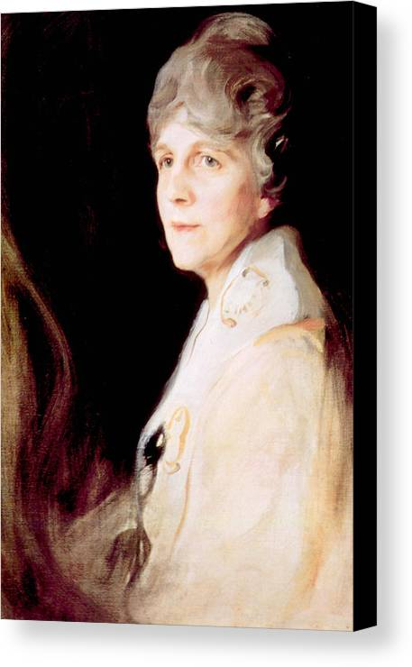 First Lady Canvas Print featuring the photograph Florence Harding 1860-1924, First Lady by Everett