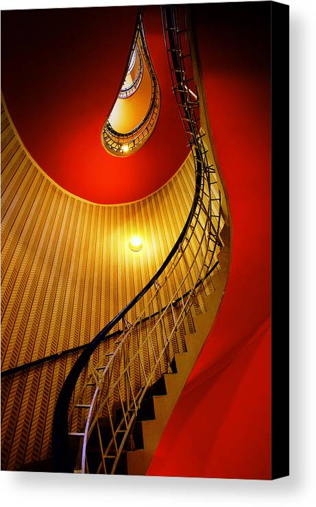 Staircase Canvas Print featuring the photograph Four Flights by John Galbo