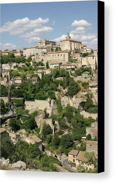 Vertical Canvas Print featuring the photograph France, Provence, Village Of Gordes by Jimmy Legrand