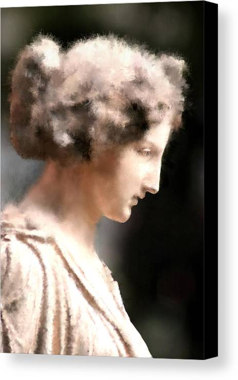 Nature Canvas Print featuring the digital art Greek Woman by Ilias Athanasopoulos