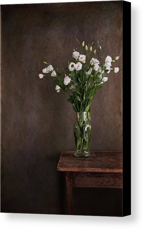 Vertical Canvas Print featuring the photograph Lisianthus Flowers by Paul Grand Image