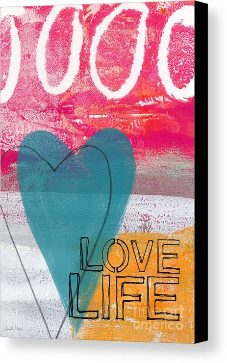 Abstract Canvas Print featuring the painting Love Life by Linda Woods