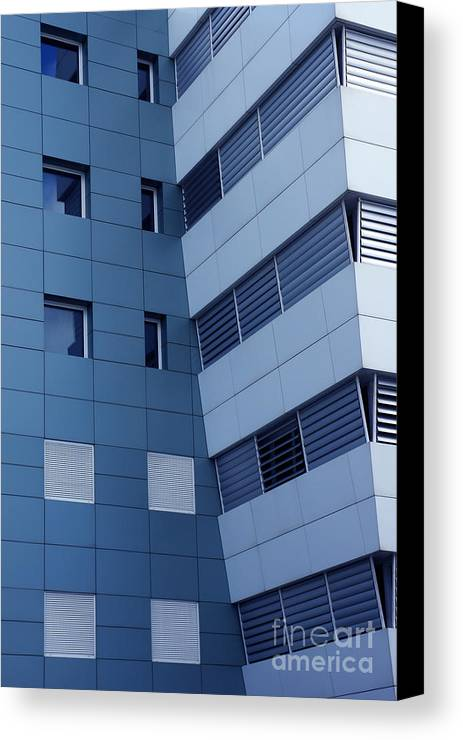 Abstract Canvas Print featuring the photograph Office Building by Carlos Caetano