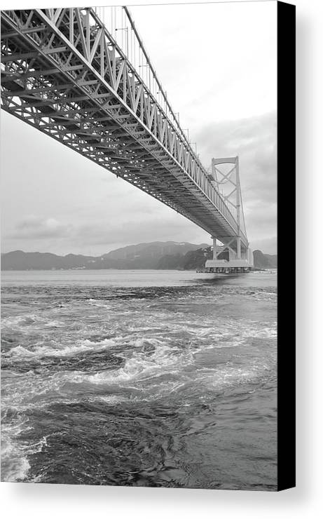 Vertical Canvas Print featuring the photograph Onaruto Bridge by Miguel Castaneda