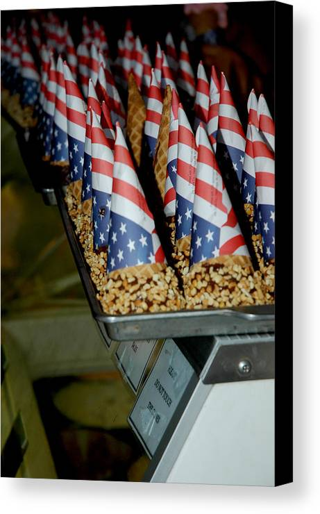 Usa Canvas Print featuring the photograph Patriotic Treats Virginia City Nevada by LeeAnn McLaneGoetz McLaneGoetzStudioLLCcom