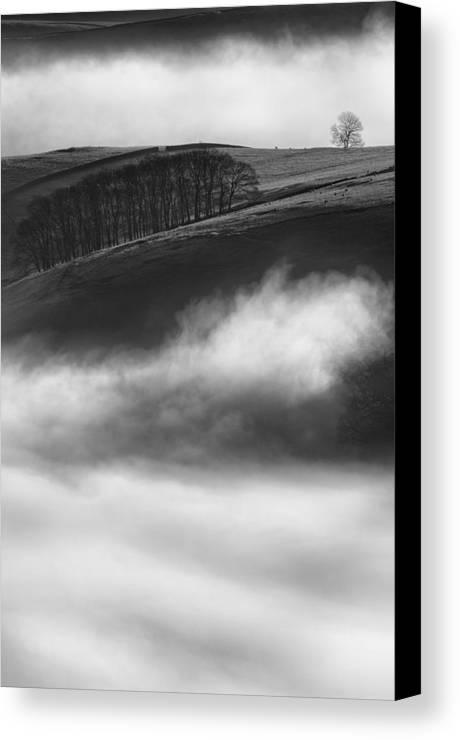 Peak District Canvas Print featuring the photograph Peak District Landscape by Andy Astbury