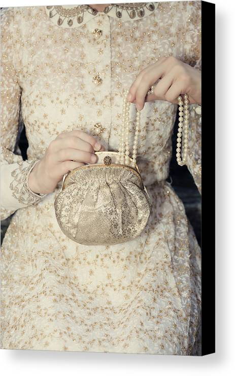 Female Canvas Print featuring the photograph Pearls by Joana Kruse