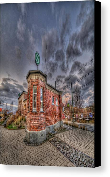 Architecture Canvas Print featuring the photograph S Bahn Eck by Nathan Wright
