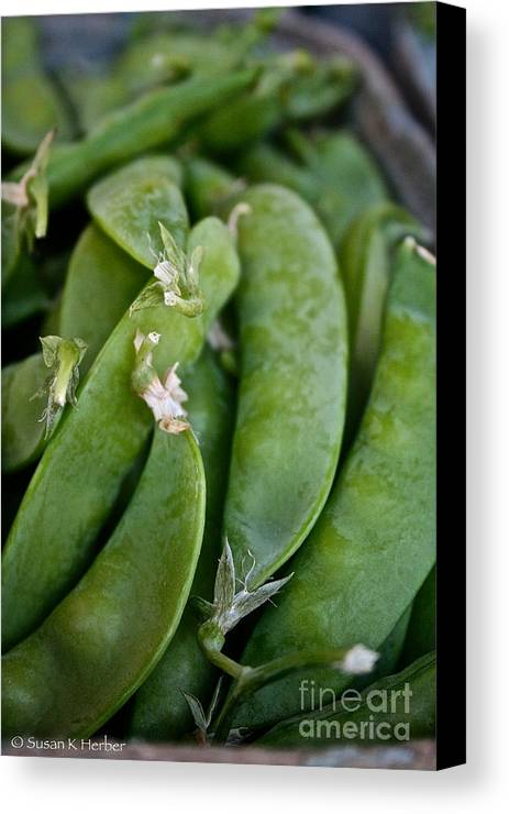 Food Canvas Print featuring the photograph Snap Peas Please by Susan Herber