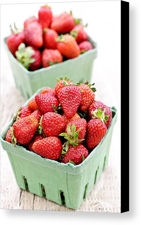 Strawberries Canvas Print featuring the photograph Strawberries by Elena Elisseeva