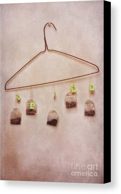Tea Canvas Print featuring the photograph Tea Bags by Priska Wettstein