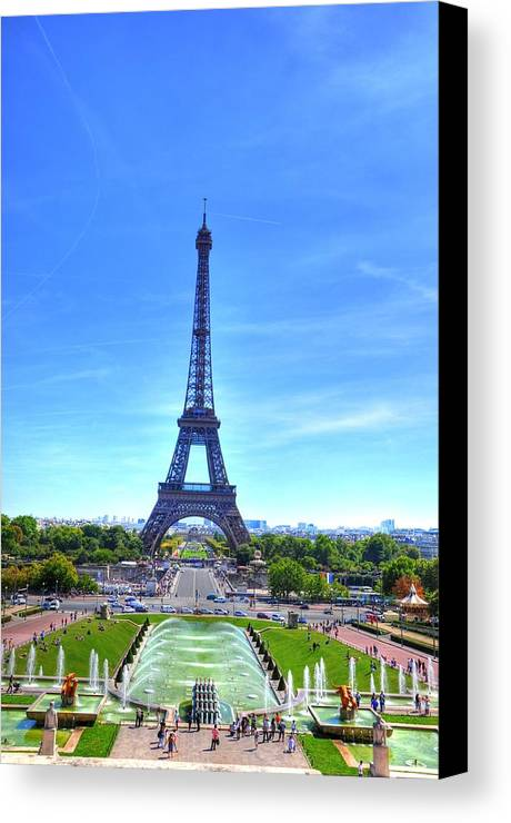 Helsinki Finland Canvas Print featuring the digital art The Eiffel Tower by Barry R Jones Jr