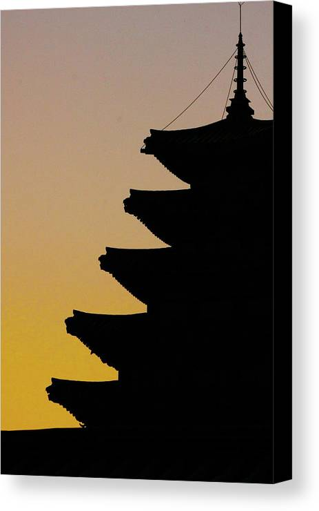 Vertical Canvas Print featuring the photograph The Pagoda At Gyeongbukgong In Seoul by Photography by Simon Bond