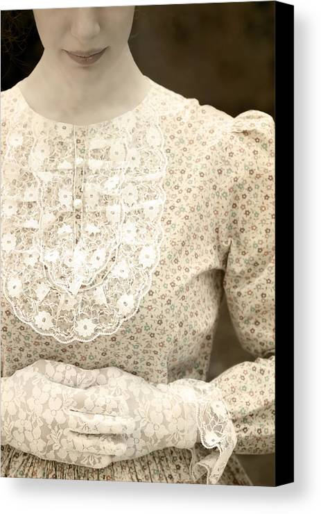 Female Canvas Print featuring the photograph Victorian Dress by Joana Kruse