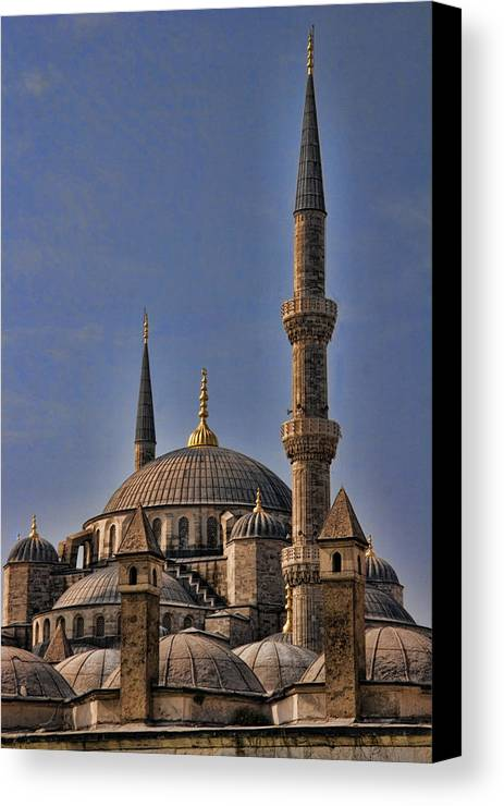 Turkey Canvas Print featuring the photograph The Blue Mosque In Istanbul Turkey by David Smith