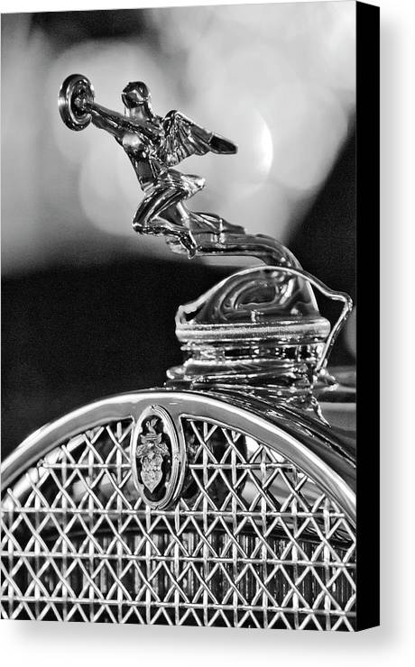 1931 Packard Convertible Victoria Canvas Print featuring the photograph 1931 Packard Convertible Victoria Hood Ornament 2 by Jill Reger