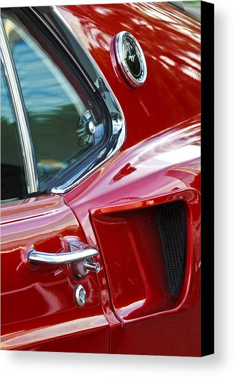 1969 Ford Mustang Mach 1 Canvas Print featuring the photograph 1969 Ford Mustang Mach 1 Side Scoop by Jill Reger