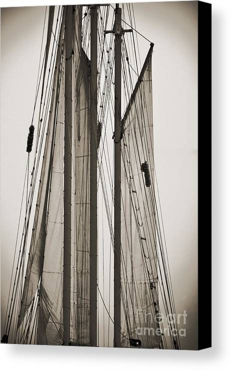 Tall Ship Canvas Print featuring the photograph Schooner Pride Tall Ship Charleston Sc by Dustin K Ryan